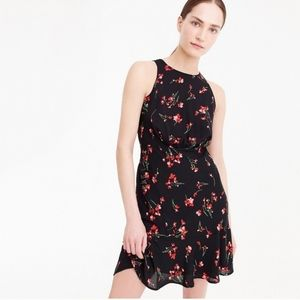 J.Crew Black And Red Floral Dress 12